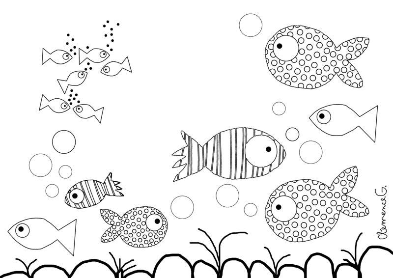 Coloriage-poisson
