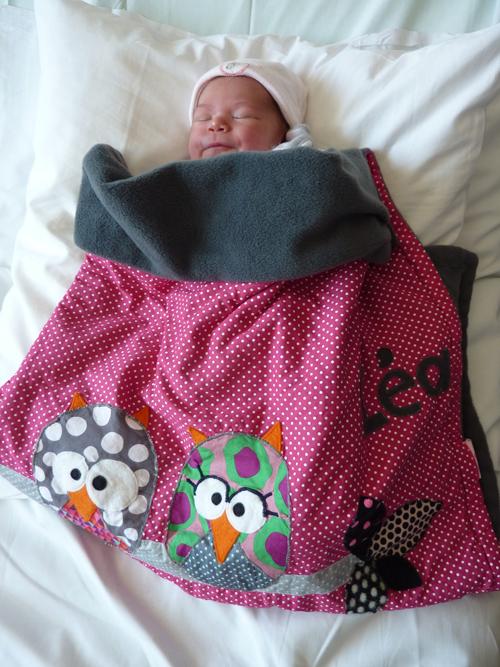 couverture personnalisée pour bébé ClémenceG.: Couverture personnalisée pour Léa ! couverture personnalisée pour bébé