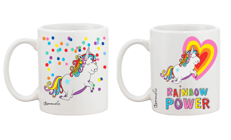 Lot.mugs.licorne